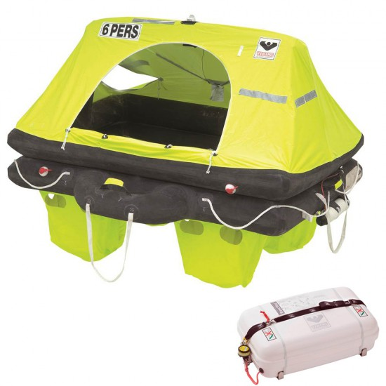 viking liferaft 6 persons rescyou container