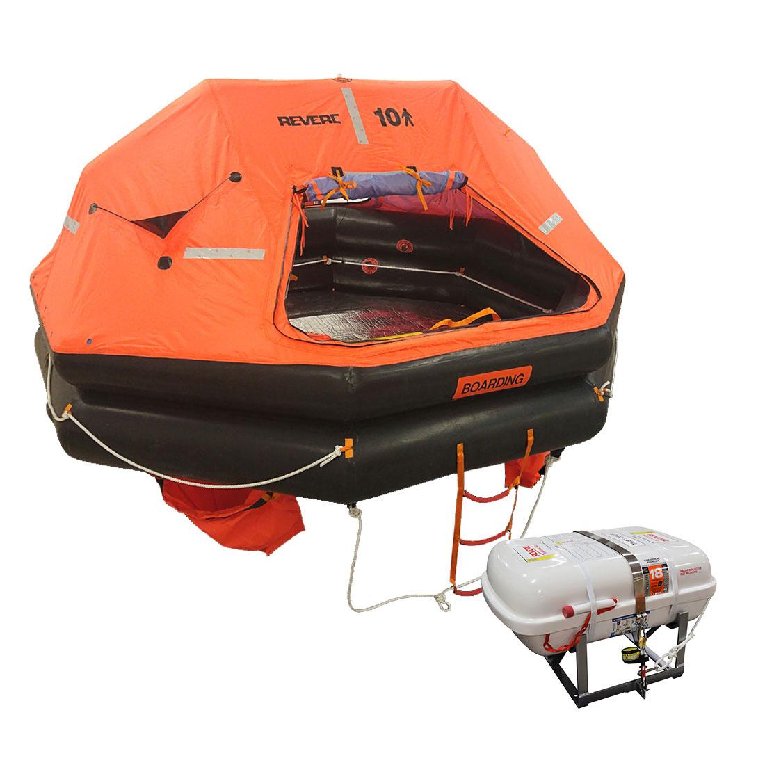 Revere Life Raft USCG/SOLAS 8 Person - Low-Profile Container